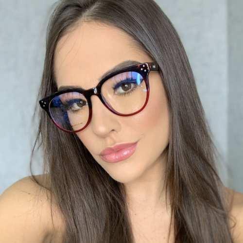 Óculos de Grau Retangular Transparente com Tartaruga 209 4