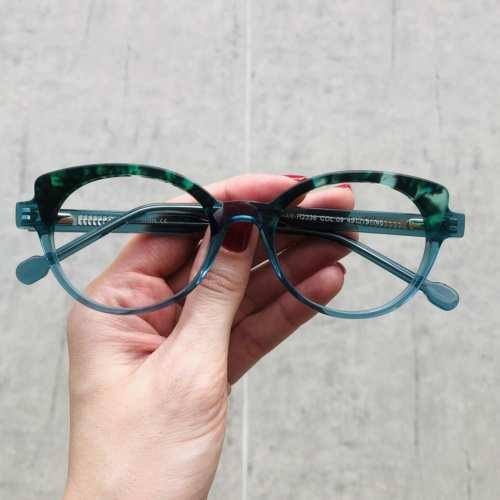 oticagriss oculos de grau gatinho verde com tartaruga 184 3