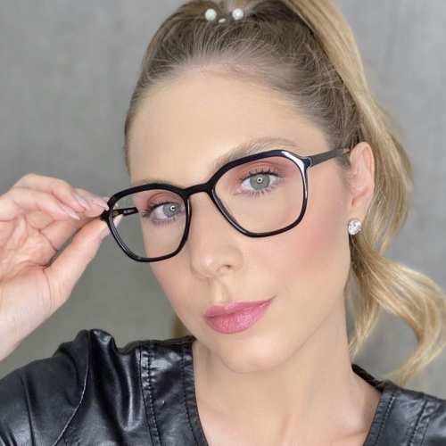 oticagriss oculos de grau quadrado preto 182