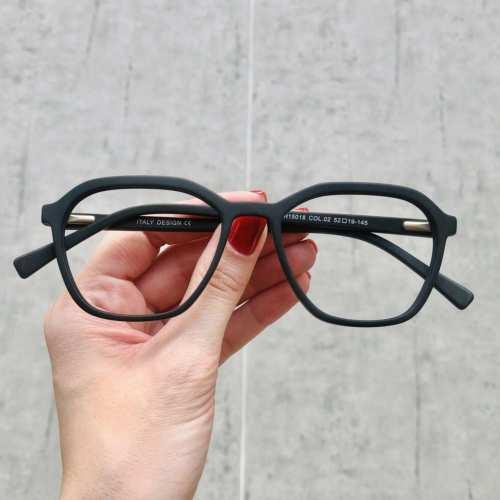 oticagriss oculos de grau quadrado preto fosco 182 3