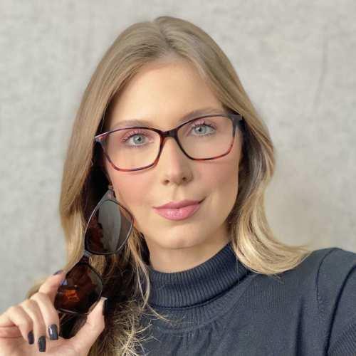 oticagriss oculos clip on retangular tartaruga 193 4