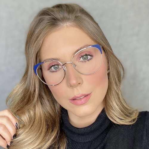 oticagriss oculos de grau gatinho azul 190 3