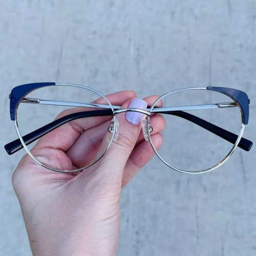 oticagriss oculos de grau gatinho azul 190