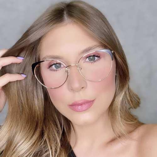 oticagriss oculos de grau gatinho preto 190