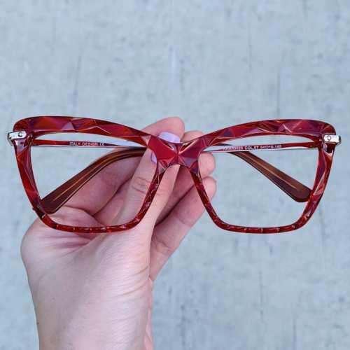 oticagriss oculos de grau gatinho vermelho 191 1