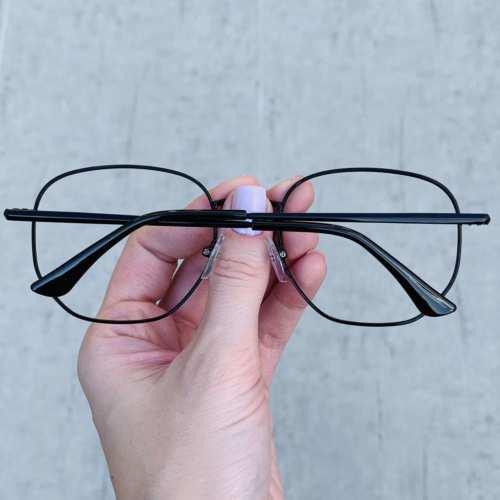 oticagriss oculos de grau hexagonal preto 192 1