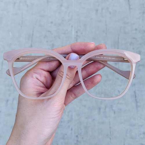 oticagriss oculos de grau quadrado nude 187 2