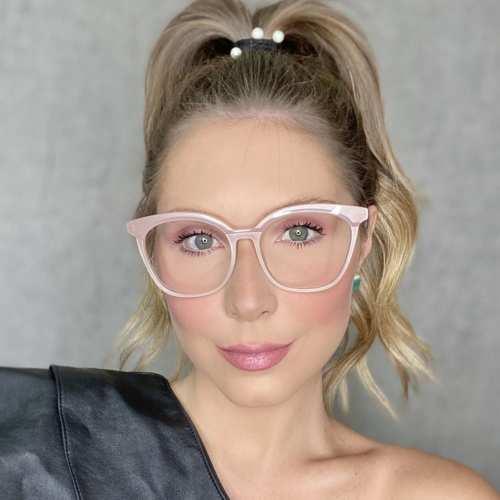 oticagriss oculos de grau quadrado nude 187