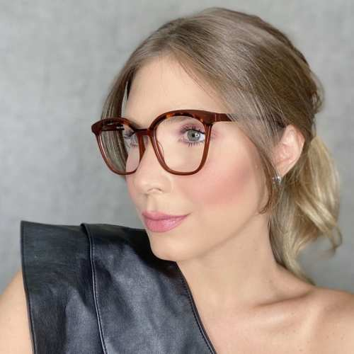 oticagriss oculos de grau quadrado vinho com tartaruga 187
