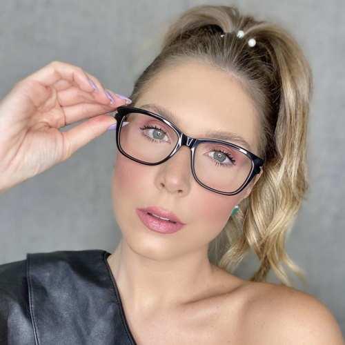 oticagriss oculos de grau retangular preto 188 1