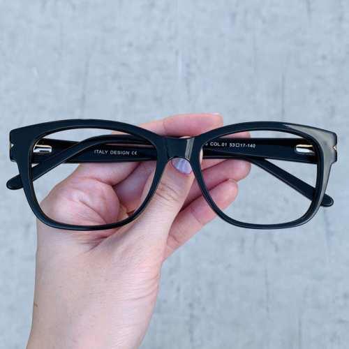 oticagriss oculos de grau retangular preto 188 2