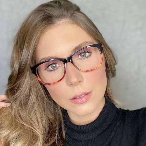 oticagriss oculos de grau retangular preto com tartaruga 188 3