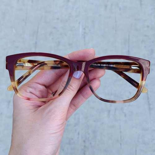 oticagriss oculos de grau retangular vinho com tartaruga 188 3