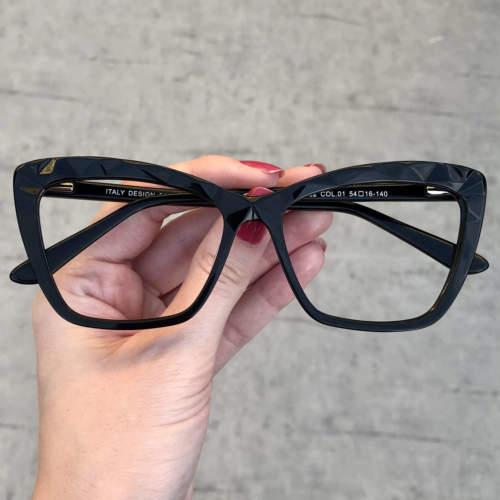 oticagriss oculos de grau gatinho preto 195