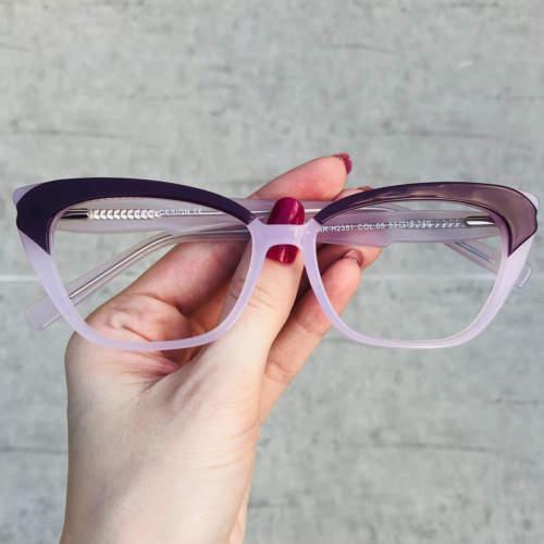 oticagriss oculos de grau gatinho roxo 199