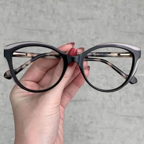 oticagriss oculos de grau gatinho preto 206
