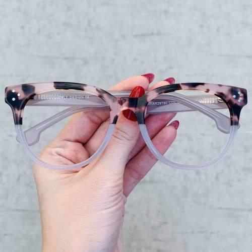 oticagriss oculos de grau retangular transparente com tartaruga 209