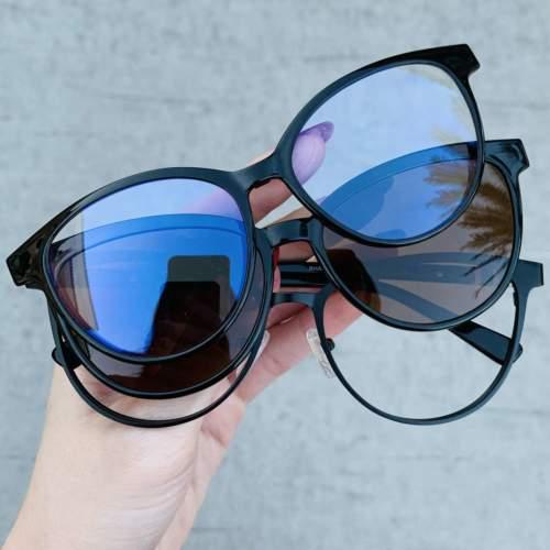 oticagriss oculos 3 em 1 clip on preto 210 4