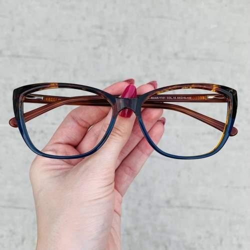 oticagriss oculos de grau gatinho azul com tartaruga 212
