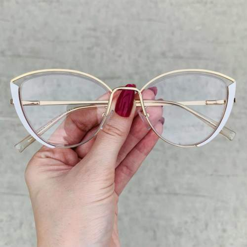 oticagriss oculos de grau gatinho branco 213