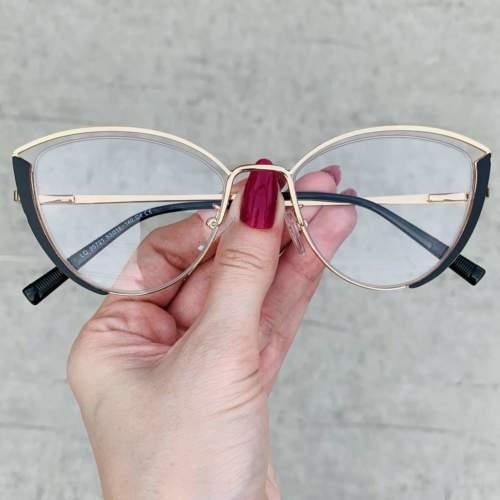 oticagriss oculos de grau gatinho preto 213