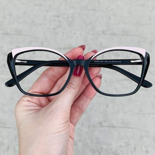 oticagriss oculos de grau gatinho preto com nude 214
