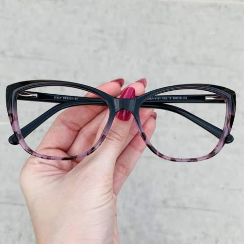 oticagriss oculos de grau gatinho preto com tartaruga 212