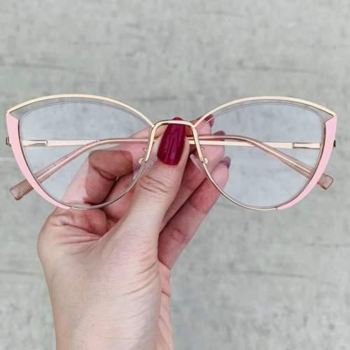 oticagriss oculos de grau gatinho rosa 213
