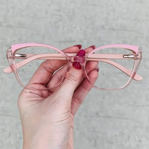 oticagriss oculos de grau gatinho rosa 214