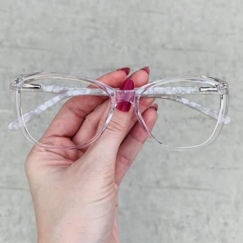 oticagriss oculos de grau gatinho transparente 212