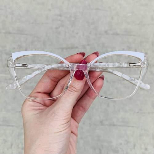 oticagriss oculos de grau gatinho transparente 214