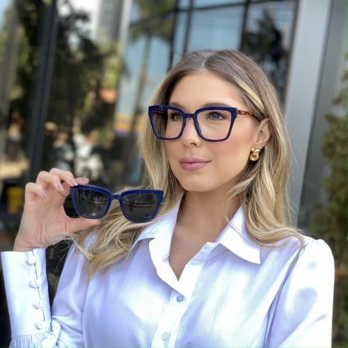 oticagriss oculos clip on em acetato quadrado azul 227 4