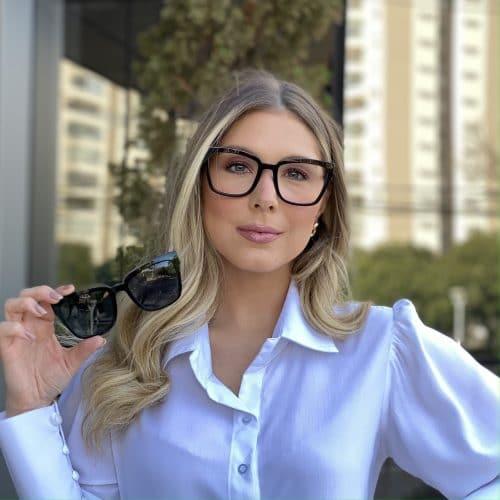 oticagriss oculos clip on em acetato quadrado preto 227 4