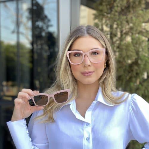 oticagriss oculos clip on em acetato quadrado rosa 227 3