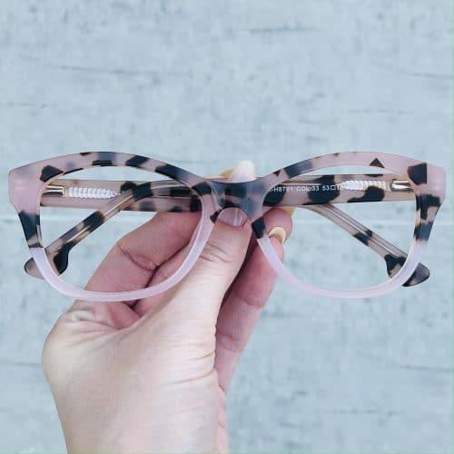 oticagriss oculos de grau em acetato gatinho rosa 225