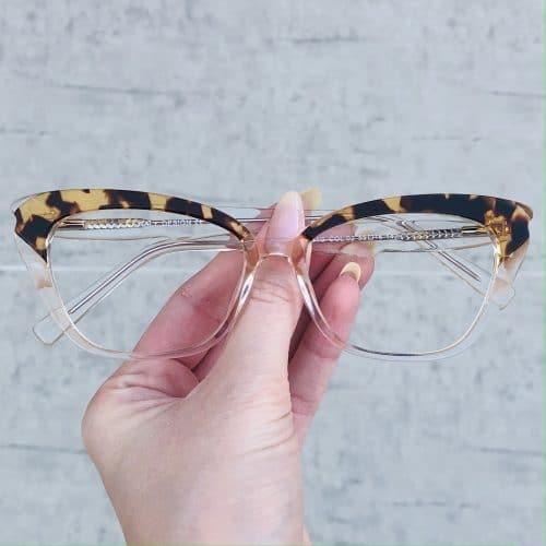 oticagriss oculos de grau em acetato gatinho transparente 223