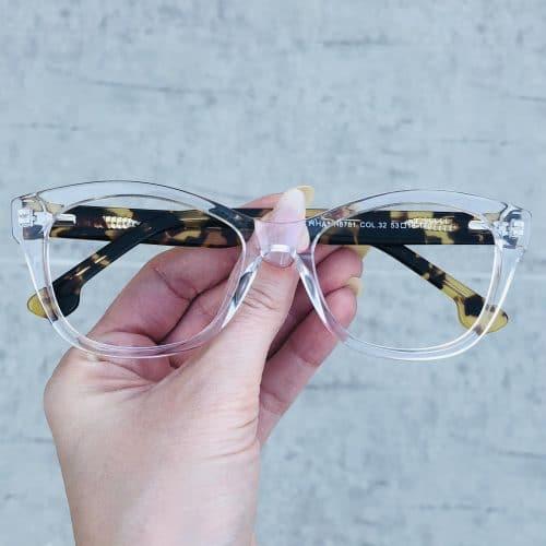 oticagriss oculos de grau em acetato gatinho transparente 225