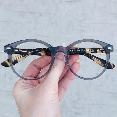 oticagriss oculos de grau em acetato redondo cinza 224