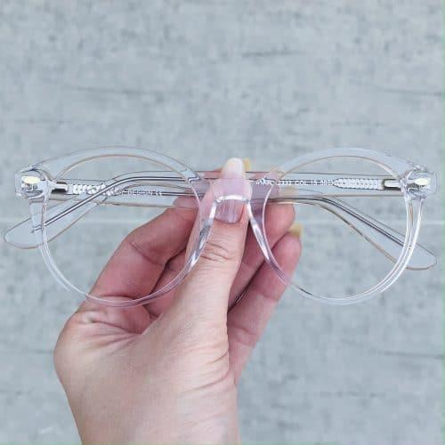 oticagriss oculos de grau em acetato redondo transparente 224