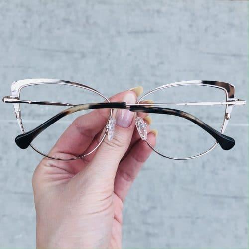 oticagriss oculos de grau em metal gatinho nude 222 1
