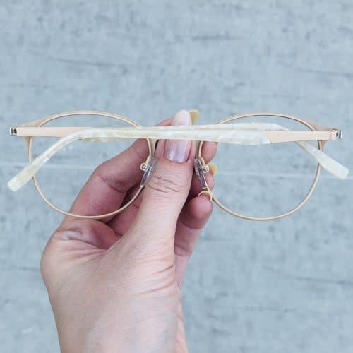 oticagriss oculos de grau em metal redondo nude 226 1