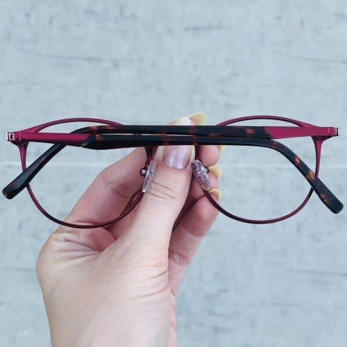 oticagriss oculos de grau em metal redondo vermelho 226 1