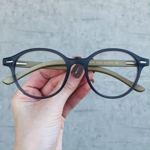 oticagriss oculos de grau redondo cinza 221