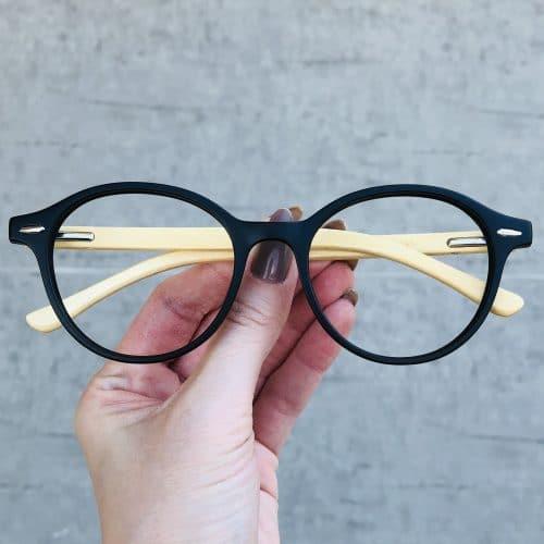 oticagriss oculos de grau redondo preto 221