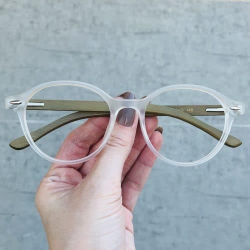 oticagriss oculos de grau redondo transparente 221