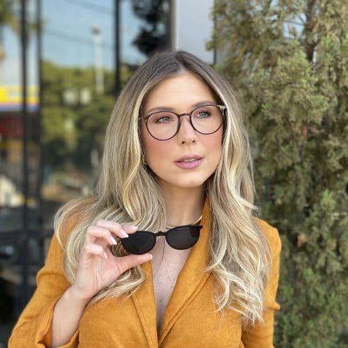 oticagriss oculos clip on 2 em 1 redondo marrom 241 7