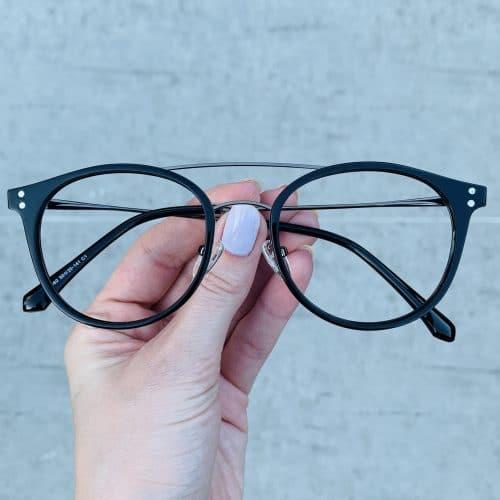 oticagriss oculos clip on 2 em 1 redondo prata com preto 239 1