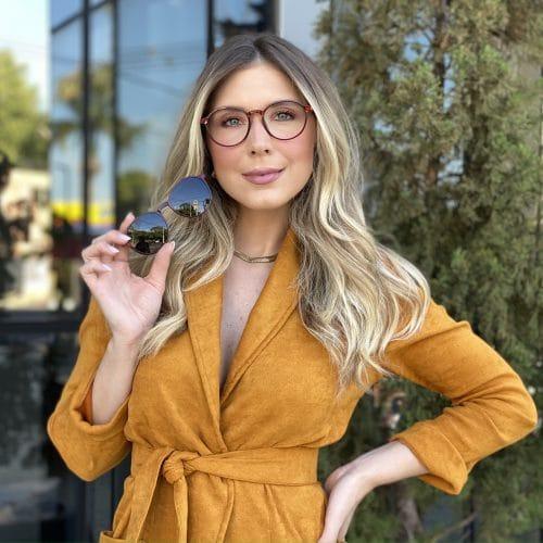 oticagriss oculos clip on 2 em 1 redondo vermelho 237 4
