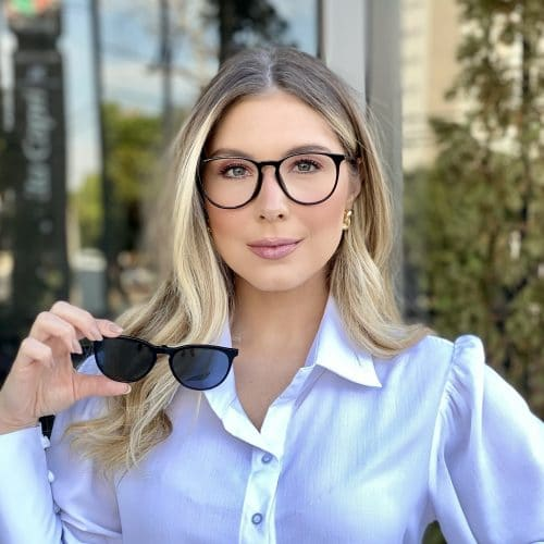 oticagriss oculos clip on 3 em 1 retangular preto 231 3