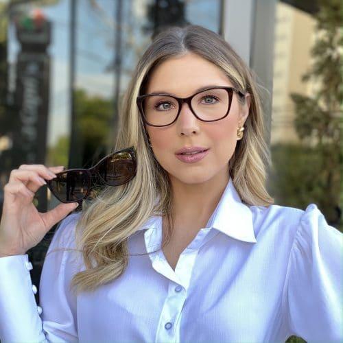 oticagriss oculos clip on em acetato gatinho marrom 228 4